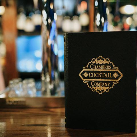 Cocktail menu.